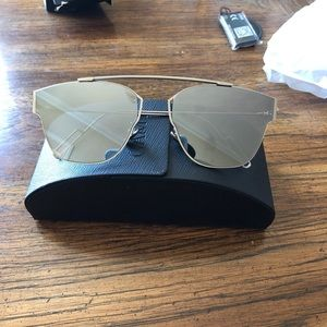 Accessories - Silver Mirrored Dior Look Alike Sunglasses